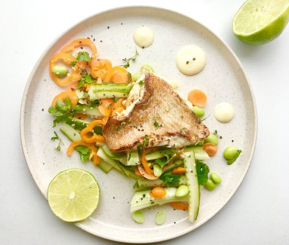 Aziatische salade met rode mul