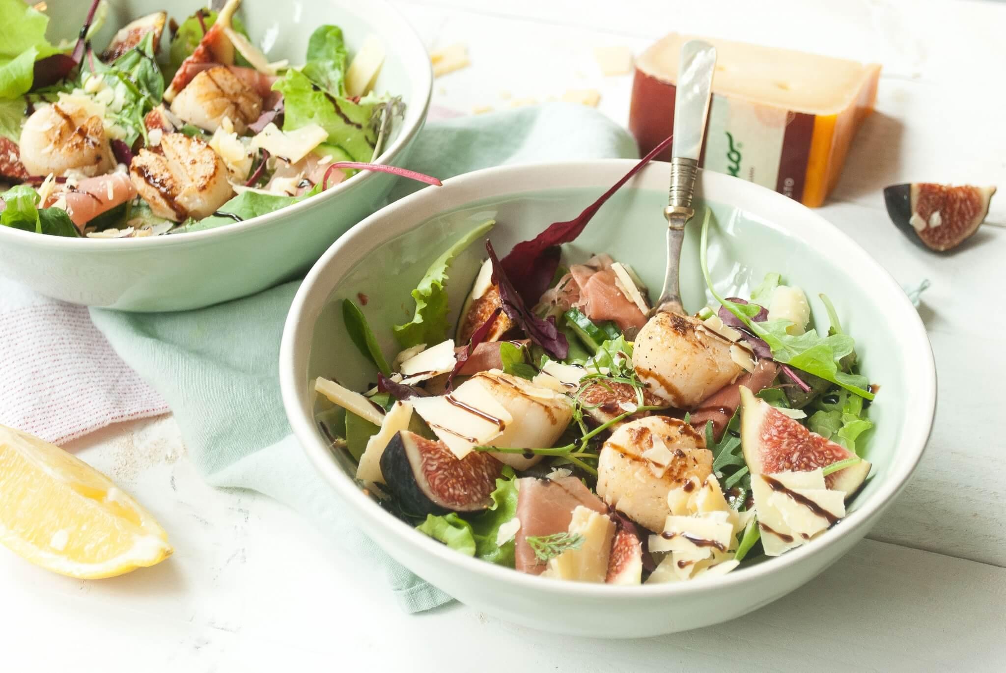 Salade met coquilles en Parrano Robusto
