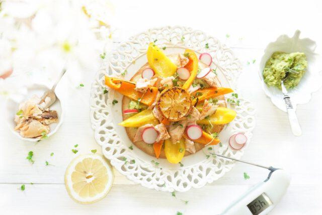 The lemon kitchen heeft perfect gegaarde rosé zalm gemaakt met gebruik van de Thermapen.