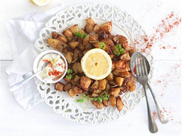 Citroen aardappeltjes met gerookte paprikapoeder