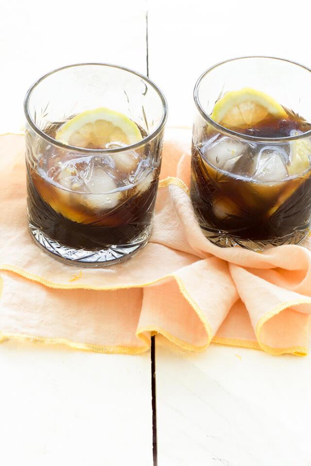 Romano ijskoffie met citroen