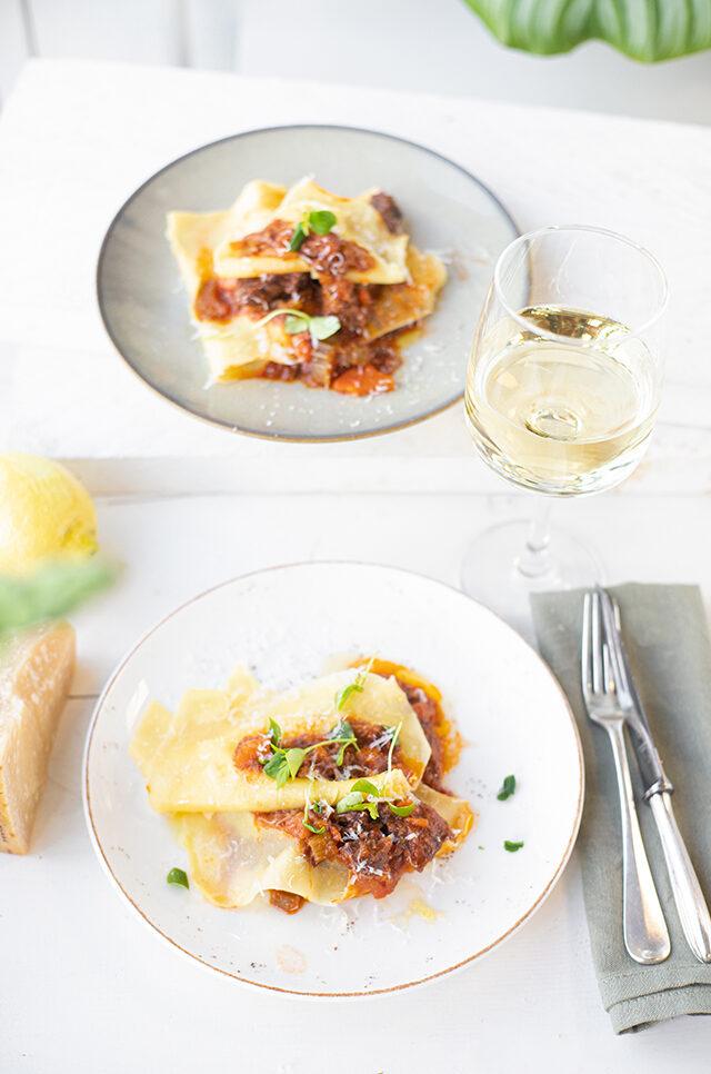 Open Lasagne met Italiaans stoofvlees & citroen