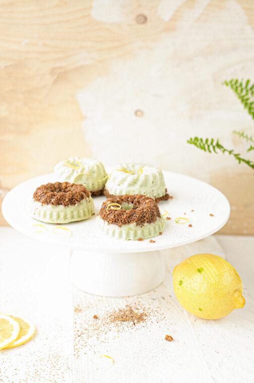 Ijs taartjes met avocado, citroen & speculaas