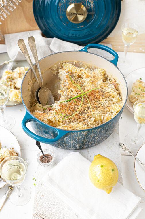 Truffel mac and cheese met citroen