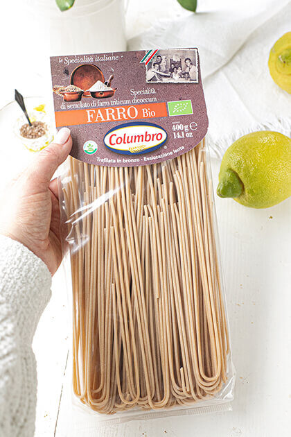 Spelt pasta van Pastaficio