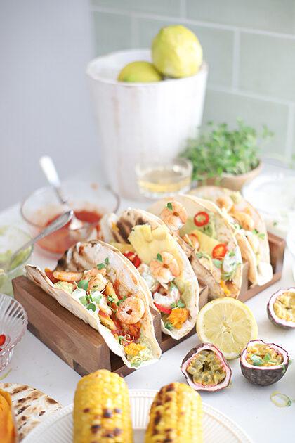taco tequila gamba's en citroen