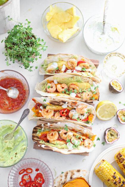 Taco's met Tequila Gamba's & citroen op de BBQ
