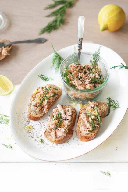 zalm salade met citroen & zeekraal