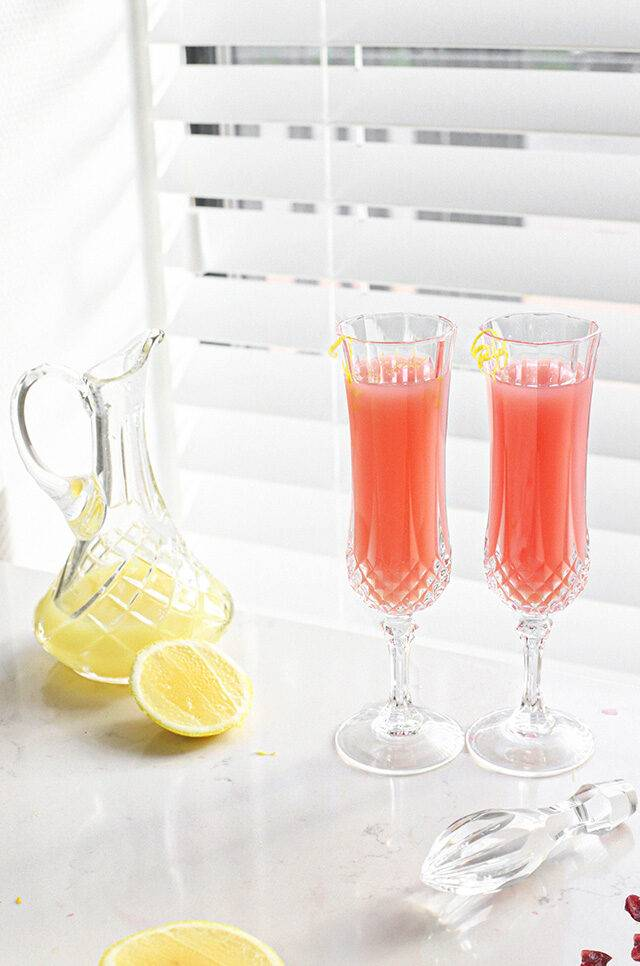 Cranberry cocktail met limoncello