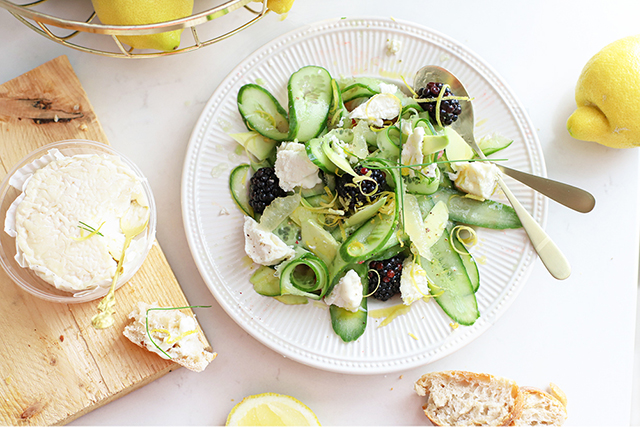 zomerse salade met komkommer