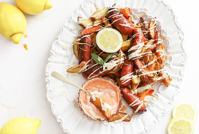 chorizo aardappeltjes met aioli citroen