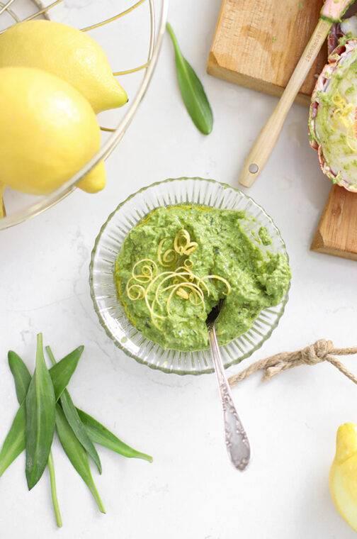 Lamsoren pesto met citroen