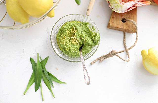 zeekraal pesto met citroen recept