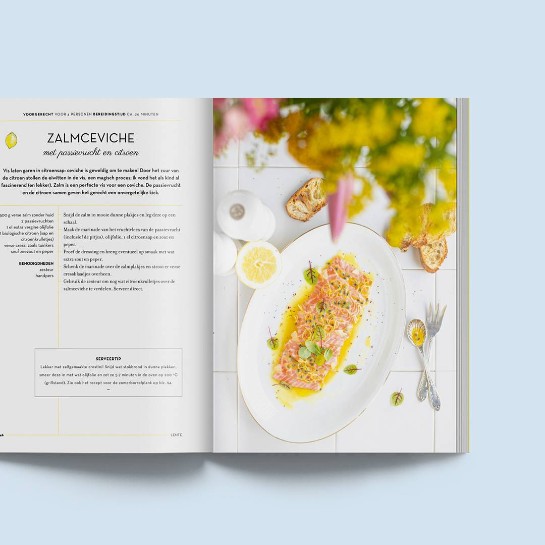 Pagina layout The Lemon Kitchen kookboek