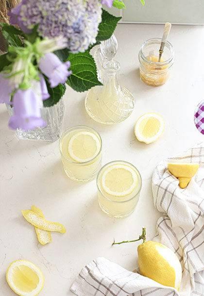 Biologische citroen limonade