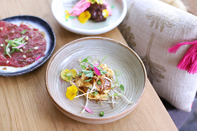 combinatie van een paar gerechten van Miro restaurant