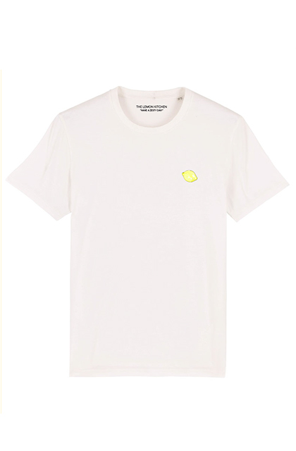Katoenen T-shirt van the lemon kitchen katoen wit