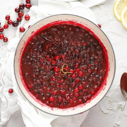 zelf cranberry compôte of saus maken met de feestdagen