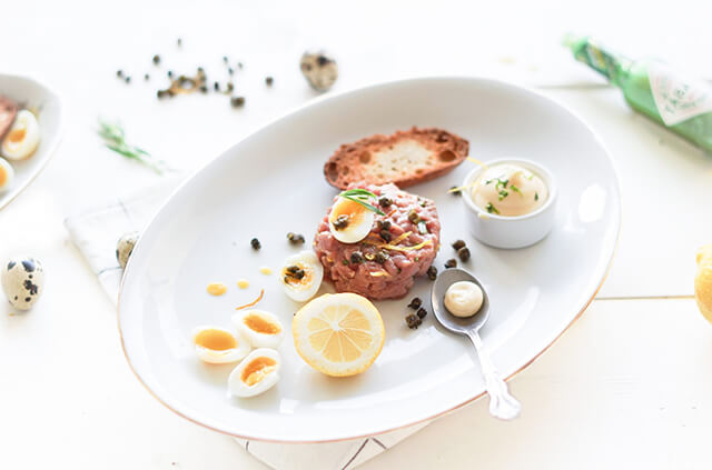 Geitenbok - Tartaar van rugfilet met dragon mayonaise