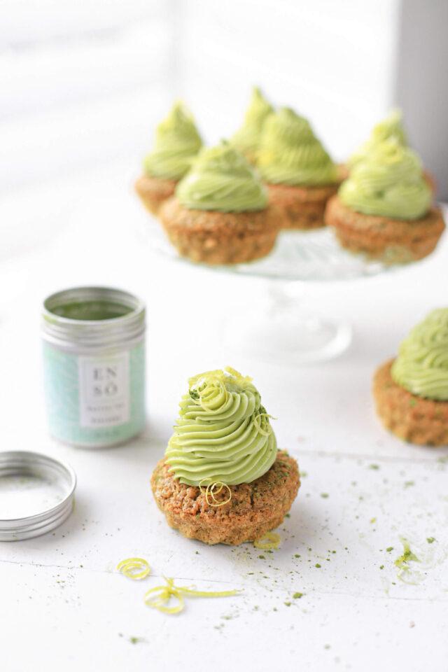 matcha cupcakes met citroen
