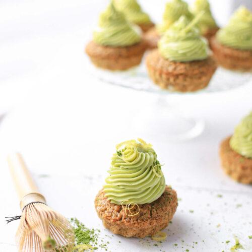 vegan matcha cupcakes met citroen