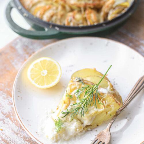 aardappel gratin gorgonzola citroen