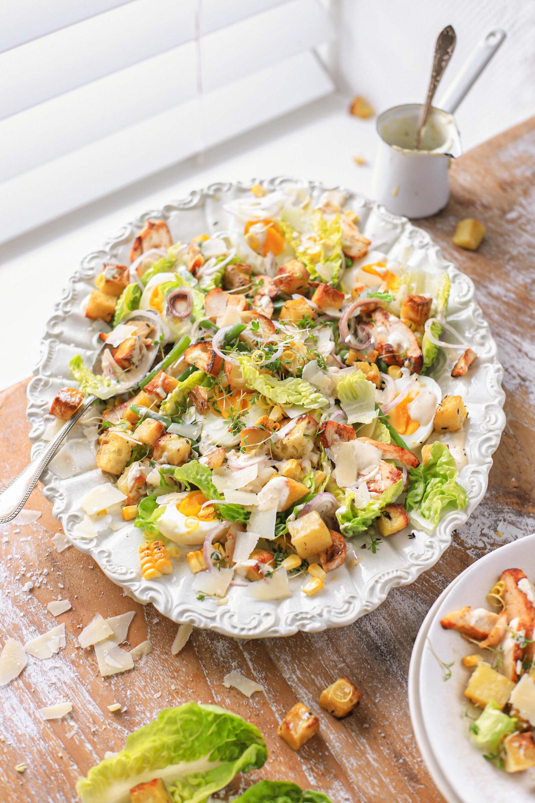 Caesar salade met ansjovis
