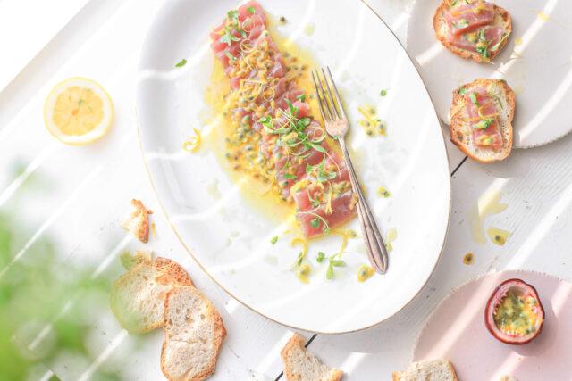 tonijn ceviche met passievrucht citroen Msc keurmerk