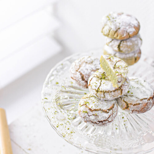 amandel matcha koekjes met citroen