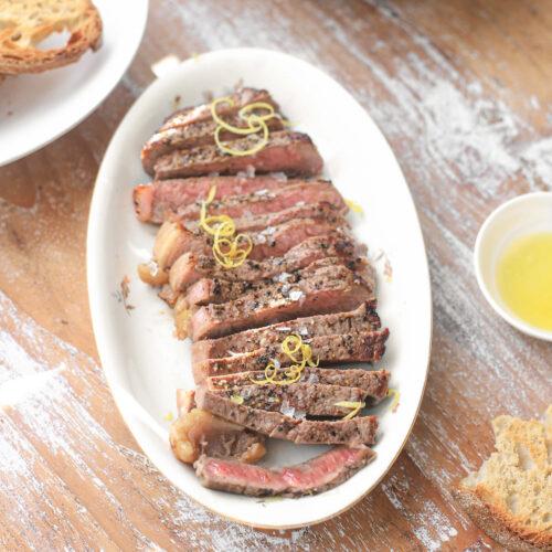 perfect gebakken steak entrecôte