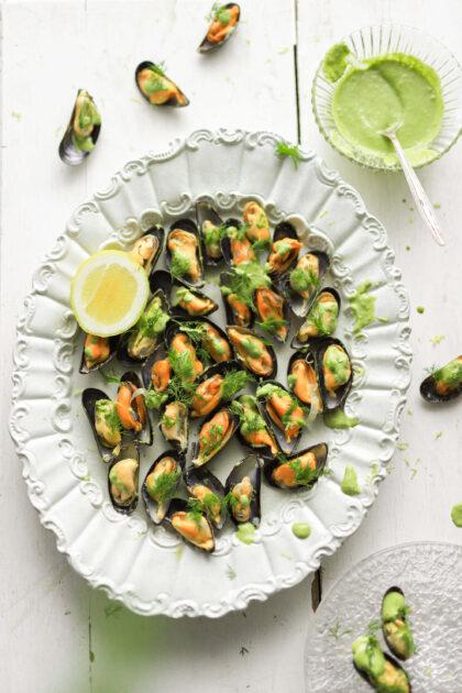 mosselen appetizer zeekraal