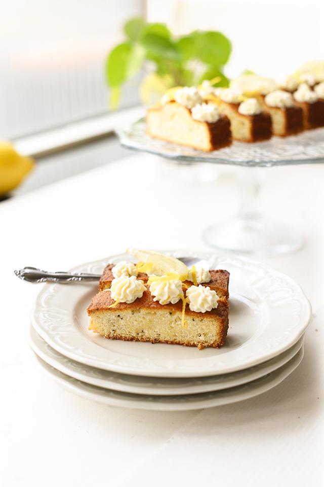 Citroen cake met mascarpone 'The Lemon Kitchen