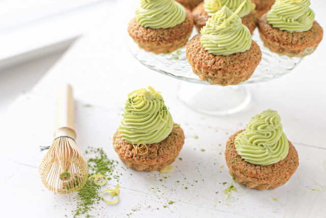 matcha cupcakes vegan recept met citroen