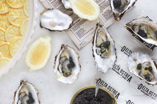 oesters Yerseke Zeeland met kaviaar en citroen