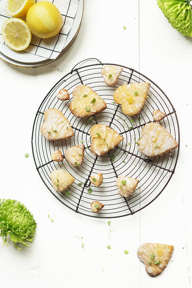 Valentijn koekjes met citroen en anijs cress